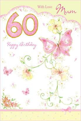 60th birthday card for a mum bookmarktalkfo Image collections