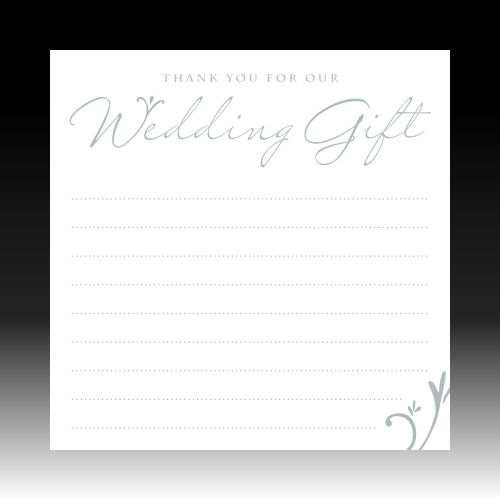 Wedding Gift Thank You Cards Pack : Pack of 10White Foiled Wedding Gift Thank You Cards