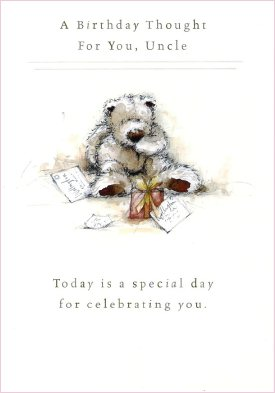 Wellington bear uncle birthday card bookmarktalkfo Images
