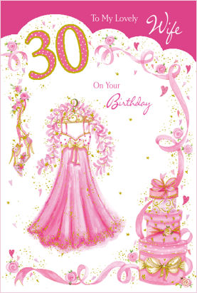 Wife 30th birthday card bookmarktalkfo Image collections