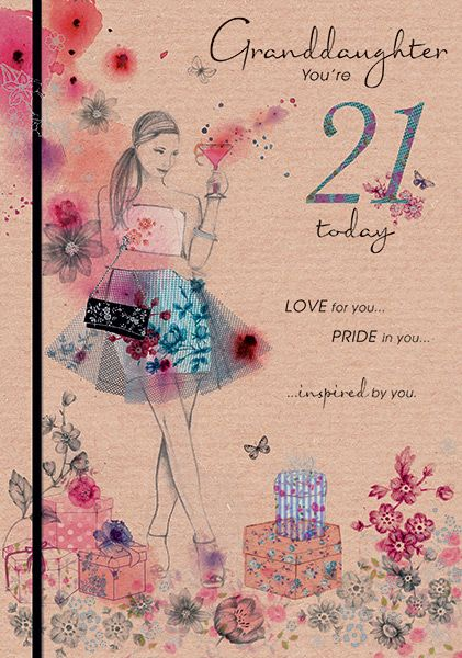 Granddaughter 21st birthday card bookmarktalkfo Image collections