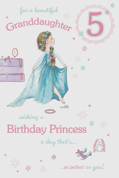 Granddaughter age 5 birthday card bookmarktalkfo Image collections
