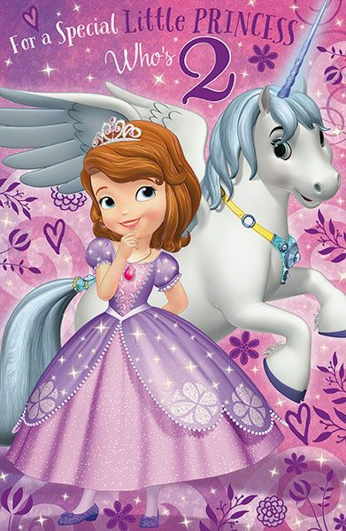 Sofia the first age 2 birthday card bookmarktalkfo Image collections