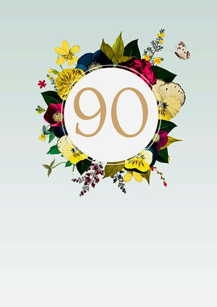 90th Birthday Card 41376 P