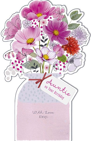 Auntie Birthday Card 34313 P