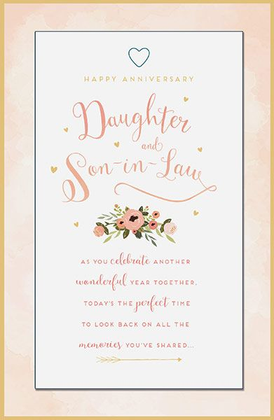 First Wedding Anniversary Gifts For Son And Daughter In Law: Daughter & Son-in-Law Anniversary Card