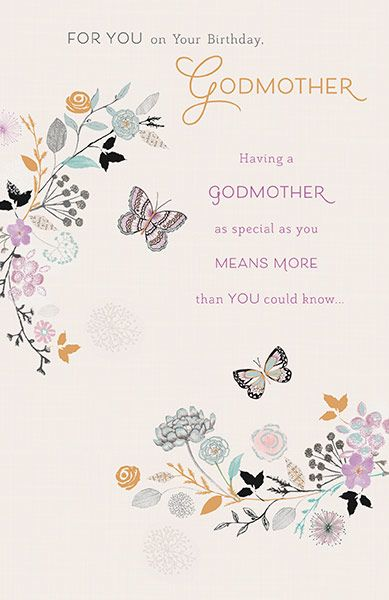 Godmother Birthday Card