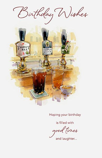 Birthday Wishes Beer Card