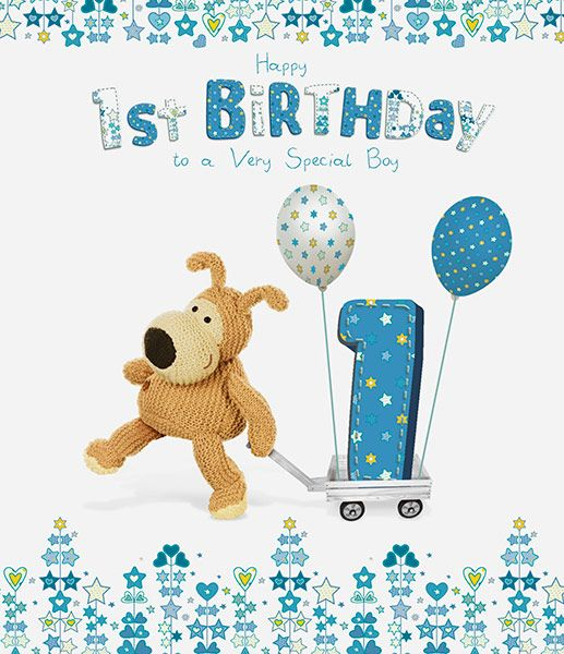 Happy 1st Birthday Boy.Boofle Boy S 1st Birthday Card