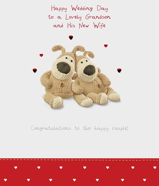 Boofle Grandson And Wife Wedding Day Greeting Card