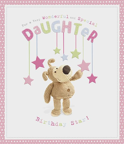 Boofle Large Special Daughter Birthday Card