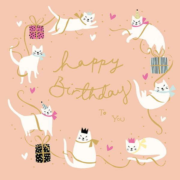 Cats Happy Birthday To You Card 43932 P