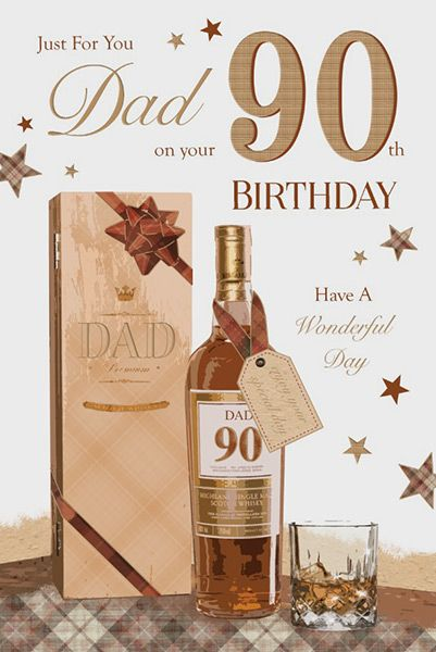 Dad 90th Birthday Card