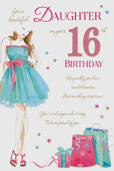 Daughter 16 Birthday Card 32281 1 P