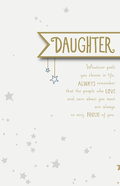 Daughter So Proud Of You Birthday Card