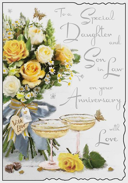 First Wedding Anniversary Gifts For Son And Daughter In Law: Daughter & Son In Law Wedding Anniversary Card