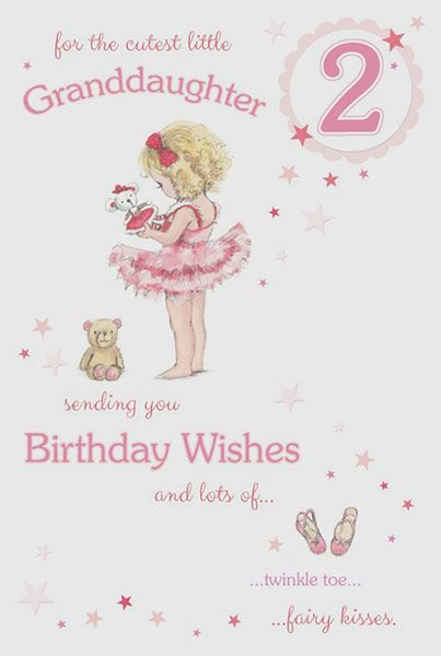 Granddaughter Age 2 Birthday Card 39249 P