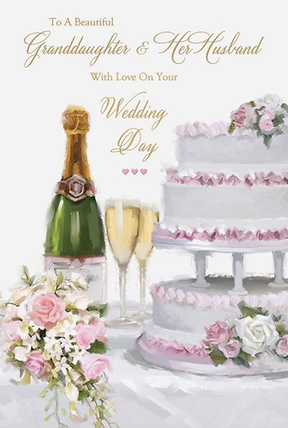 granddaughter  u0026 husband wedding day card