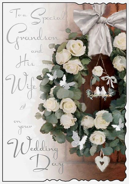 Grandson /& Wife on Your Wedding Day