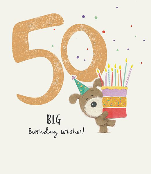 Lots Of Woof 50th Birthday Card 43972 P