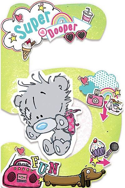 Me To You My Dinky Bear Age 5 Birthday Card 42047 P