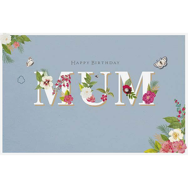Mum Bee Flowers Birthday Card 40877 P
