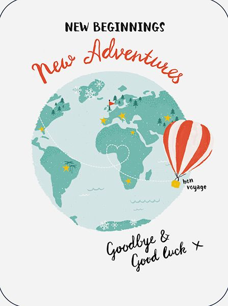 New Adventures Goodbye Amp Good Luck Card