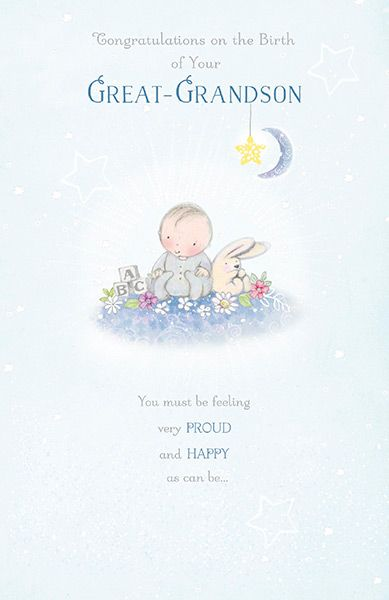 New Baby Great Grandson Congratulations Card