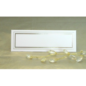 Pack of 12 Place Cards - Cream with Gold Border