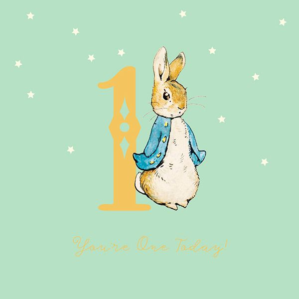 Peter Rabbit Boy 1st Birthday Card 42958 P