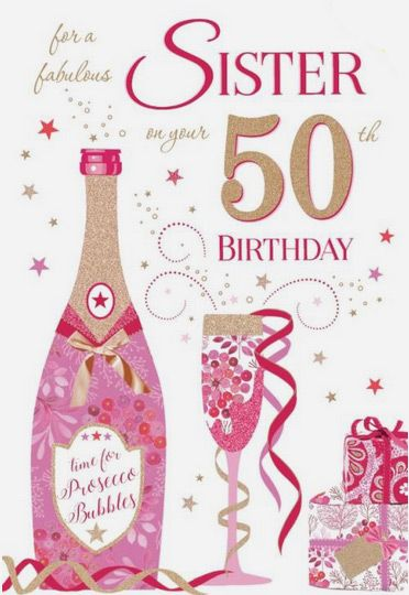 Sister 50th Birthday Card
