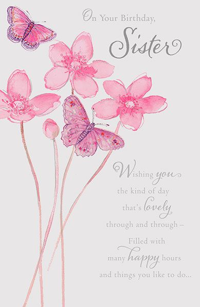 Sister Floral Birthday Card 40894 P