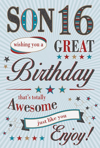 Son 16th Birthday Card 32287 1 P
