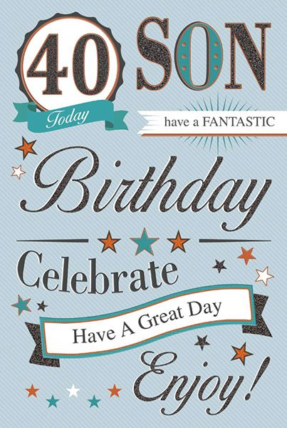 Son 40th Birthday Card 18714 1 P
