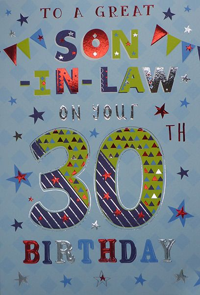 Peachy Son In Law 30Th Birthday Card Personalised Birthday Cards Paralily Jamesorg