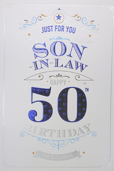 Awesome Son In Law 50Th Birthday Card Personalised Birthday Cards Cominlily Jamesorg