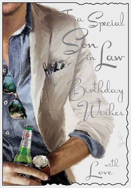 Son In Law Birthday Card 42767 P