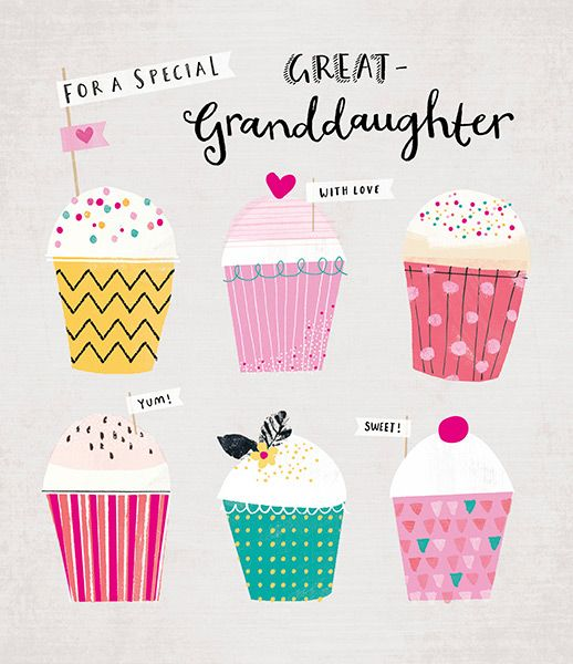 Special Great Granddaughter Birthday Card 40907 P