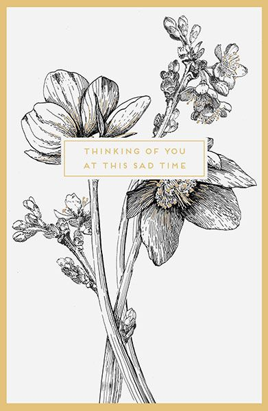 Thinking Of You At This Sad Time Sympathy Card